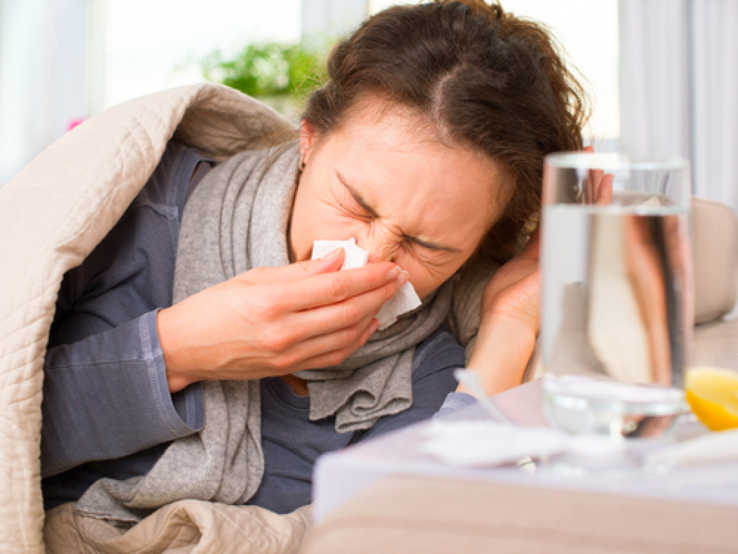 What are the symptoms of the flu and the common cold?